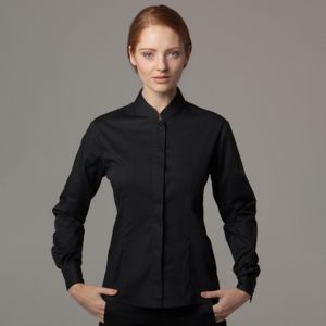 Women's bar shirt mandarin collar long sleeve Thumbnail