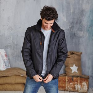 Score contrast detachable sleeve blouson jacket Thumbnail
