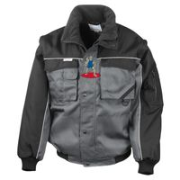Work-Guard zip sleeve heavy-duty pilot jacket Thumbnail